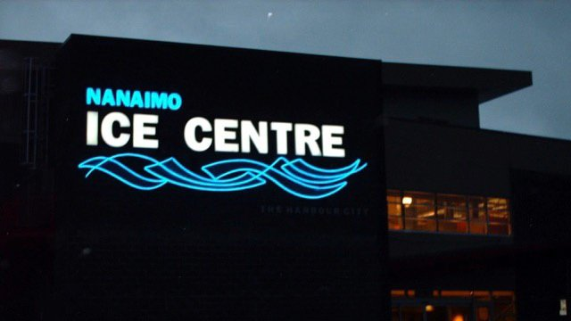 ice rink neon sign